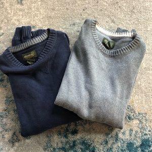 2 Eddie Bauer men's winter sweaters. Size Large